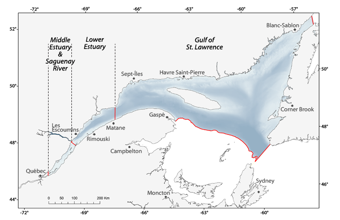 Gulf of St.Lawrence map